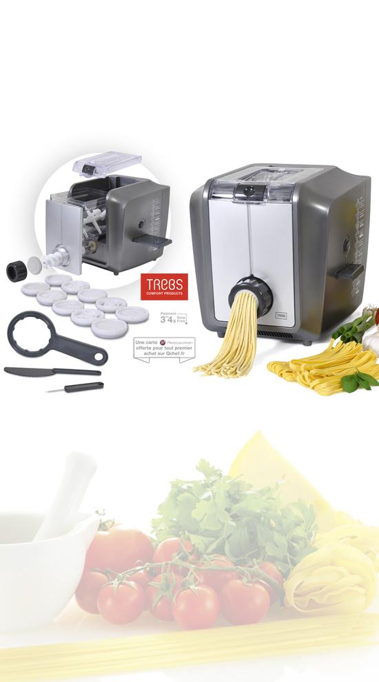 Qchef France - Trebs Pasta Gusto Machine à pâtes automatique