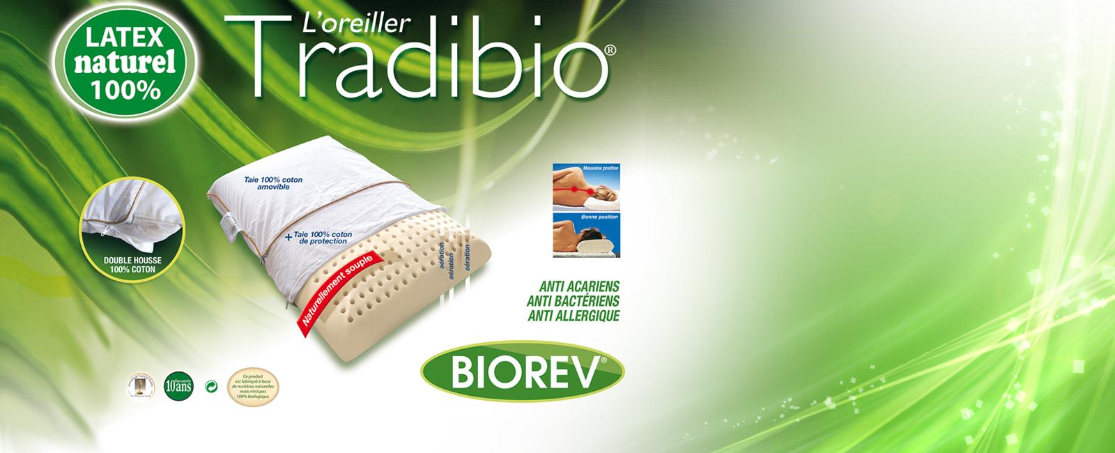 oreiller ergonomique biorev QoQa France   Biorev Oreillers en latex végétal oreiller ergonomique biorev