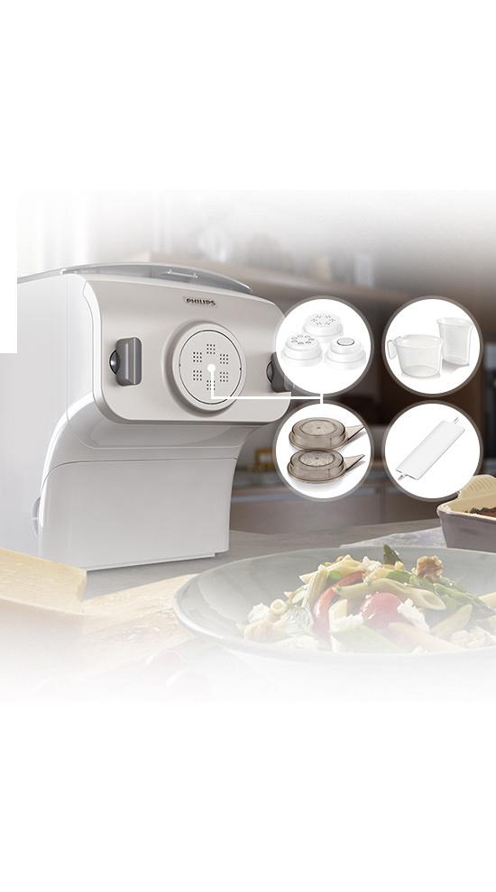 Qooking - PHILIPS Machine à pâtes électrique - Collection Premium