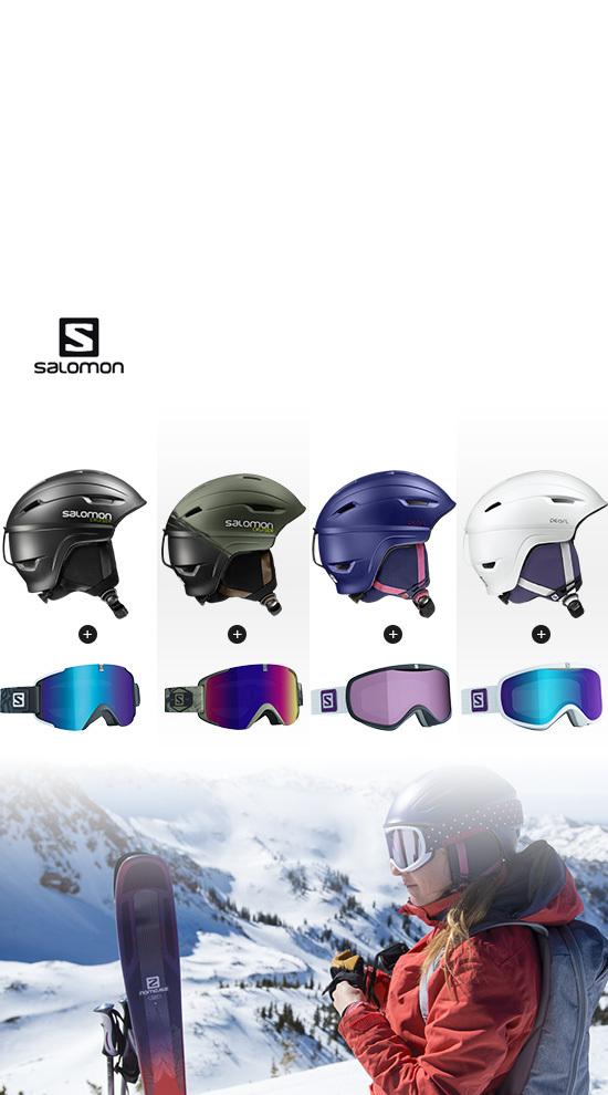 Qsport Salomon Set Helm & Goggles