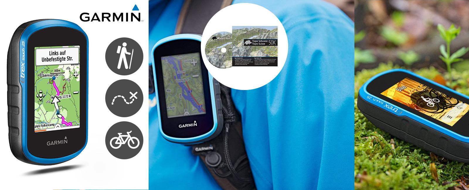 Qsport - Garmin eTrex® Touch 25 carte Topo Suisse 50k incluse!