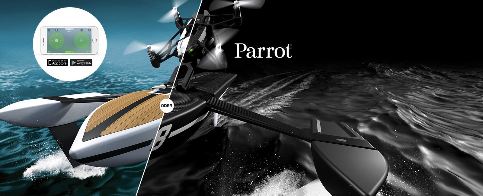 Qoqa Parrot Drone Hydrofoil Die 2 In 1 Minidrone Fr Luft Und Wasser Minidrones Orak