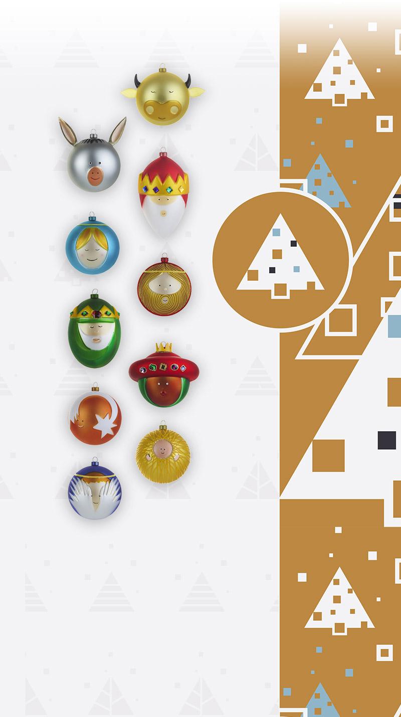 pick up sale usa online huge sale Qids - ALESSI Set 10 boules de Noël Palle Presepe