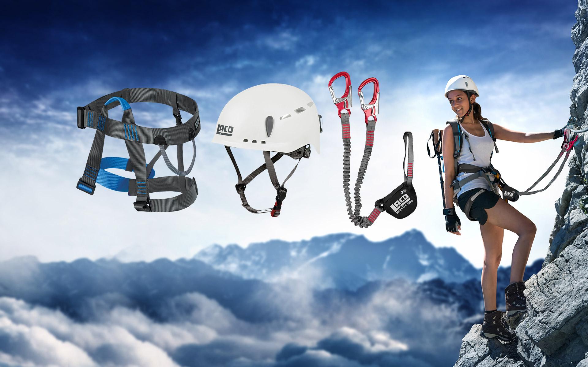 Lacd Klettergurt Test : Qsport lacd klettersteig set