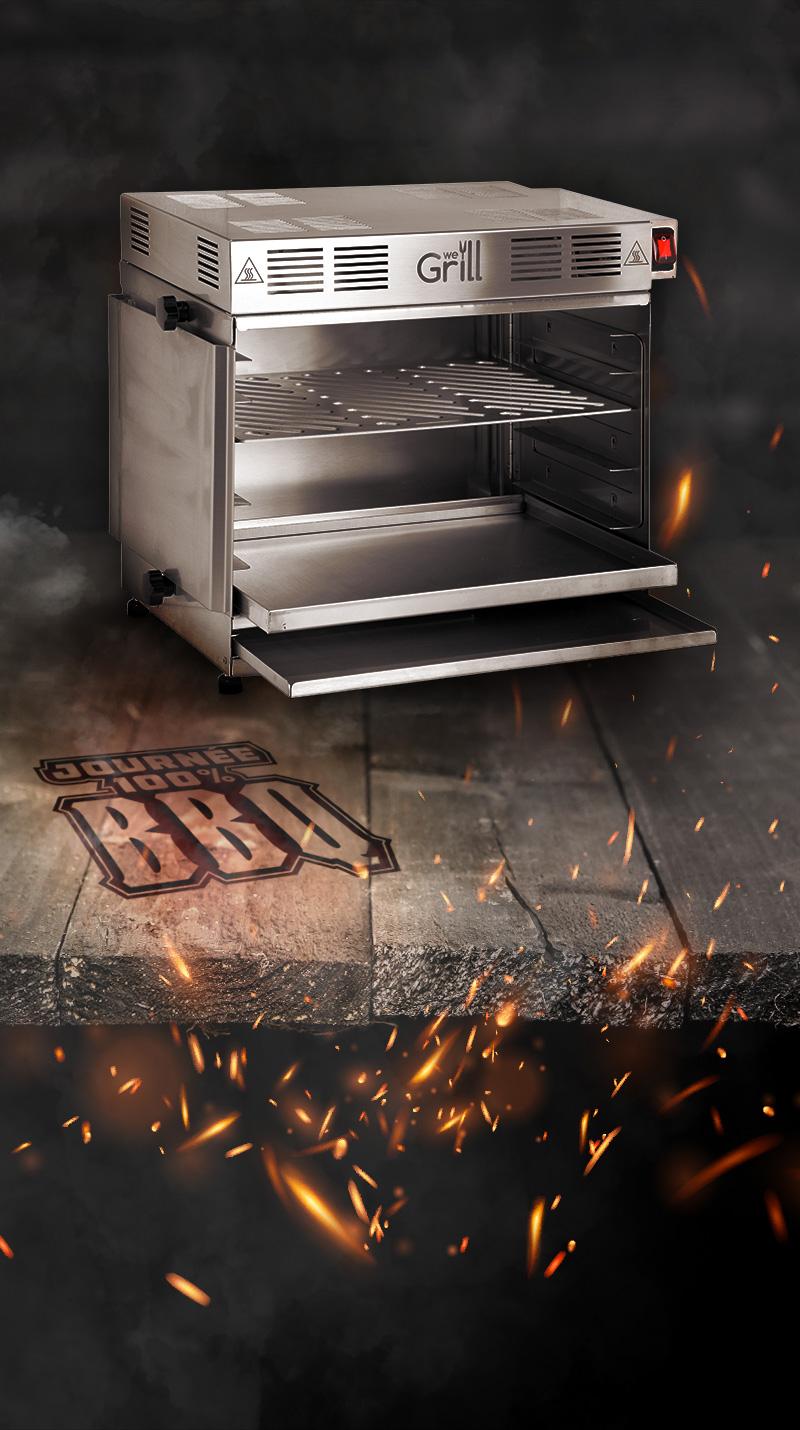Barbecue A Gaz Ou Electrique qooking - we grill and more grill infrarouge (gaz ou électrique)