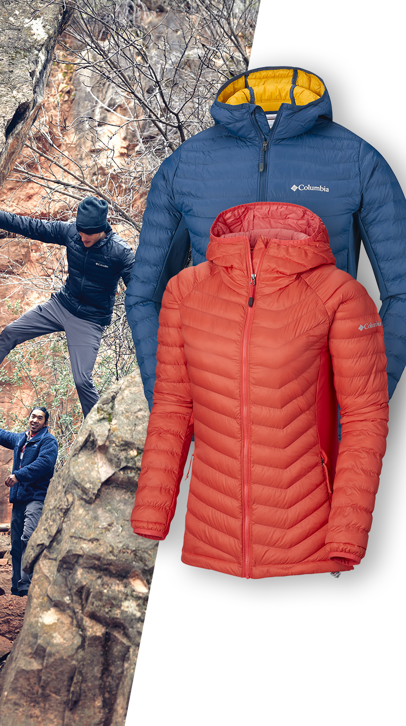 Qsport Columbia Doudoune hybride ultralight Powder Pass