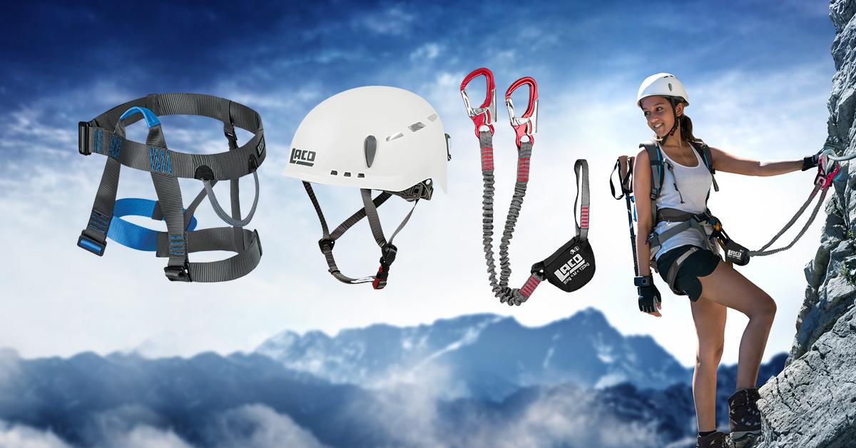 Klettergurt Lacd Start : Qsport lacd klettersteig set