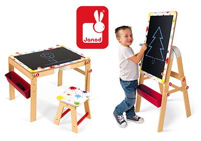 Qids janod tableau et table 2 en 1 avec chaise